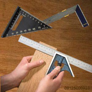 گونیا فلزی - گونیا همه کاره - گونیا ترکیبی پیچی - گونیه خط کش - تجهیزات دقیق اندازه گیری در نجاری - 09125000923